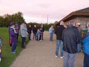 Gathering for a bat walk