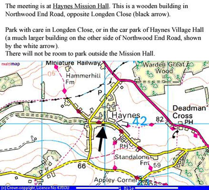 location of Haynes Mission Hall