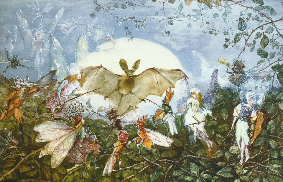 John Ansteer Fitgzerald - fairies attackinga bat