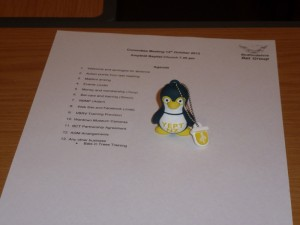 Soggy's memory stick turns his back on the agenda. Photo Jude Hirstwood