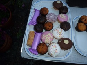 Just a few of the cakes the Bat Group devoured. Photo Jude Hirstwood