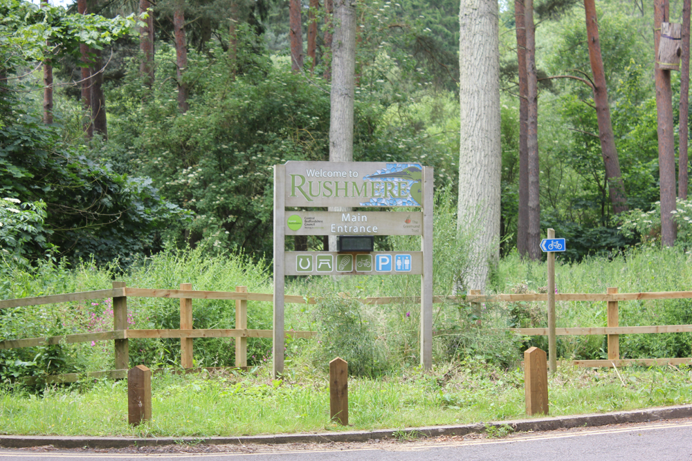 crop Rushmere sign