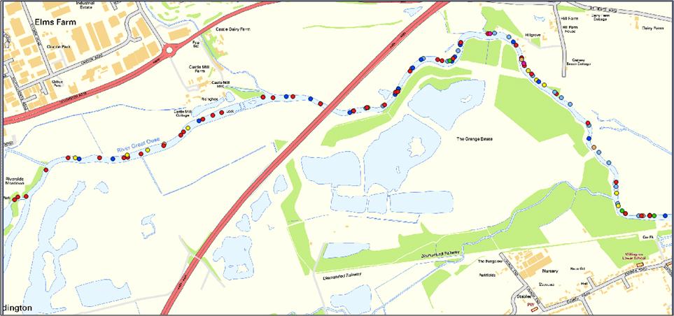 river survey map